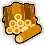 pile of logs clip art