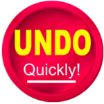UNDO quickly! button graphic
