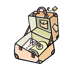 graphic of open suitcase