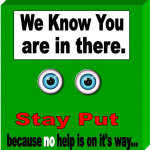 we know you are in there graphic
