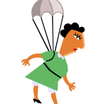 graphic of woman with parachute