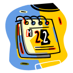 graphic of a calendar with twenty two showing