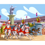 graphic of chariot race