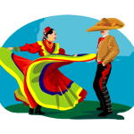 graphic of mexican woman and man dancing