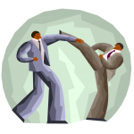 graphic of two guys in suits fighting