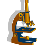 graphic of a microscope
