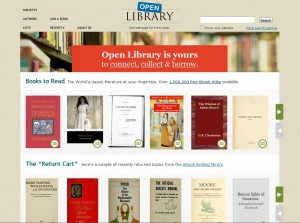 open library website screenshot