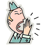 graphic of man yawning