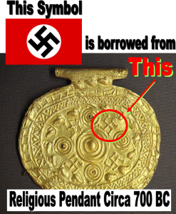swastika is borrowed from history
