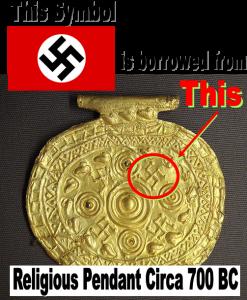 swastika is borrowed from history