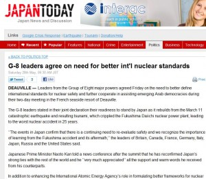 Japan Today Better Nuclear Standards after Fukushima