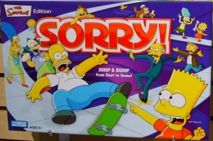 Simpsons Sorry Game graphic