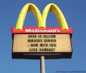 Fake Mcdonalds sign