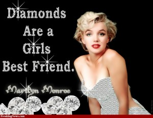 Diamonds Are A Girls Best Friend Poster