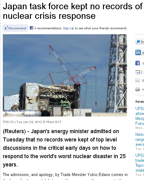 japan nuclear accident no meeting notes kept mmhmm