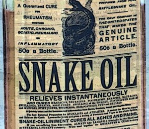 of course snake oil works read the label