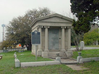 mausoleum of a deceased person