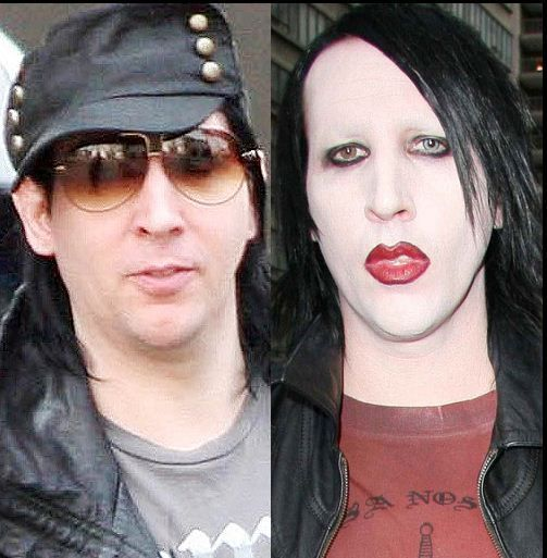 marilyn manson with without makeup