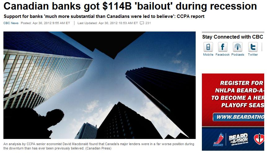 canadian bank bailout screenshot from cbc