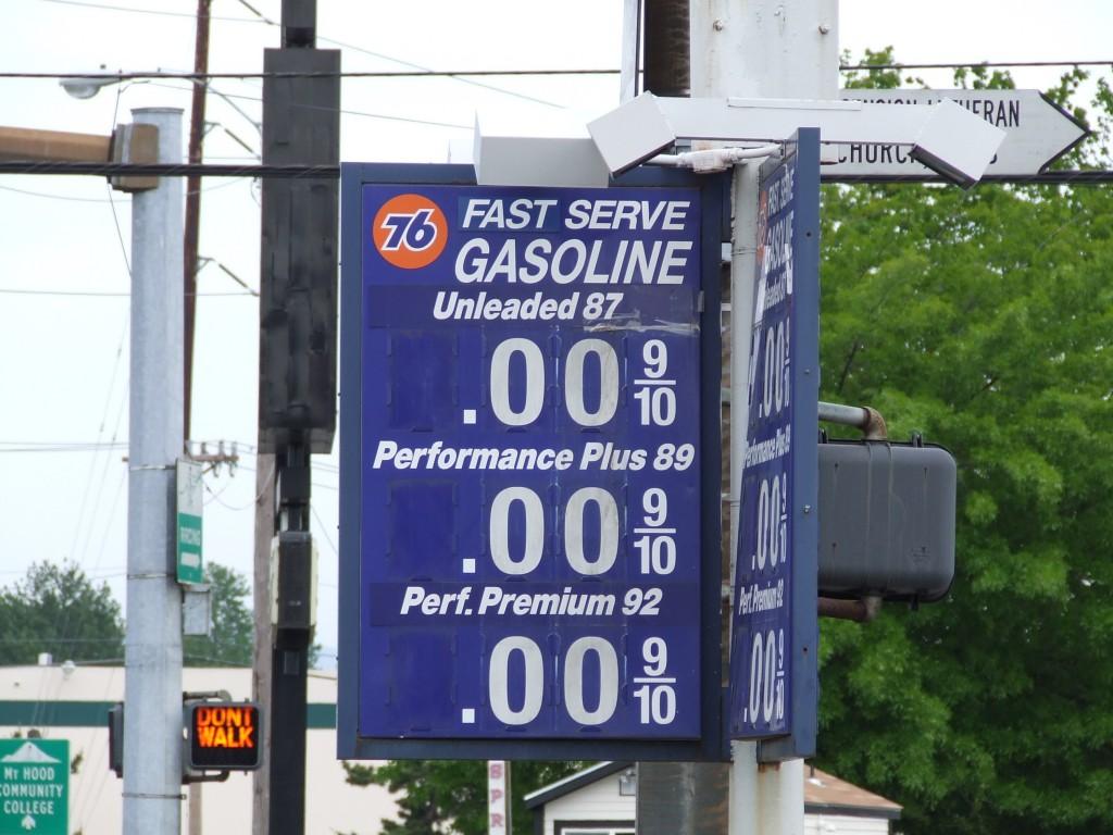 gas sign listing zero prices