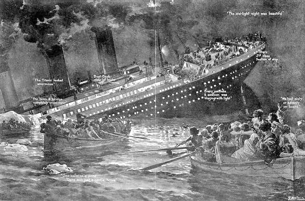 Bruce Ismay Ceo WhiteStar Line escapes from the titanic