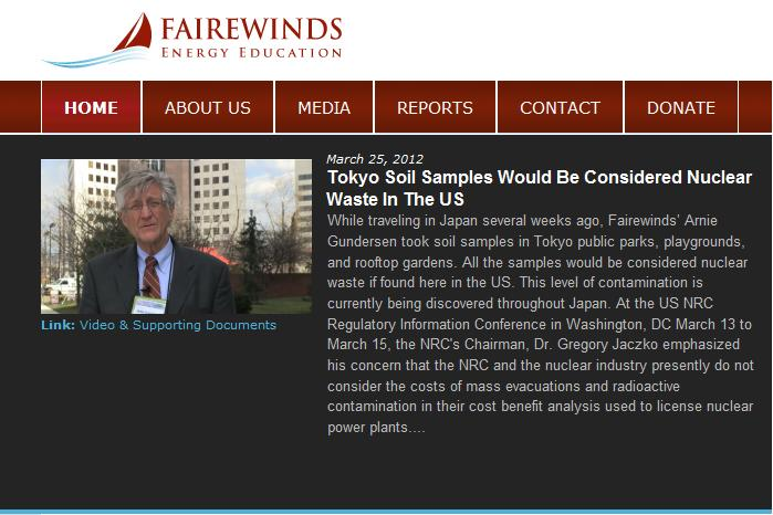 fairewinds energy education website screenshot