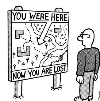you were here now you are lost sign