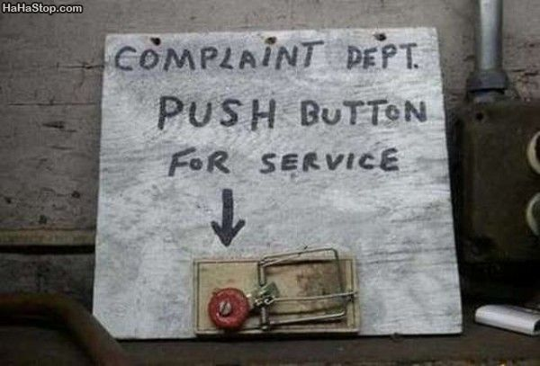 mouse trap complaint department button