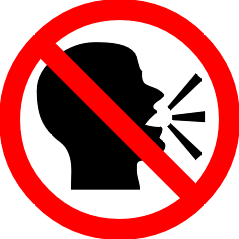 no talking sign