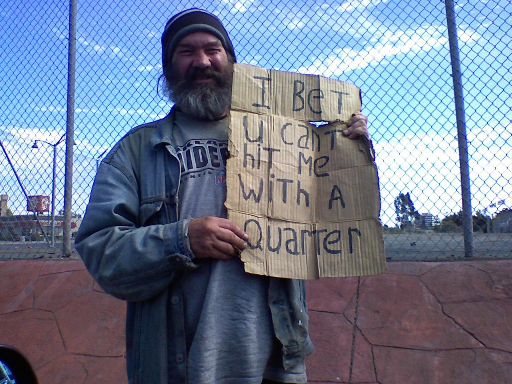 smart homeless moneymaking sign