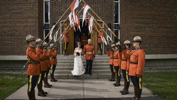 bob paulson rcmp color guard at wedding aug 2012
