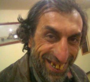 ugly man smiling