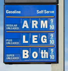 arm and leg gas price sign