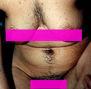 woman with chest and stomach hair