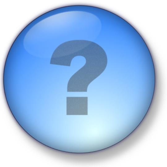 question mark in bubble