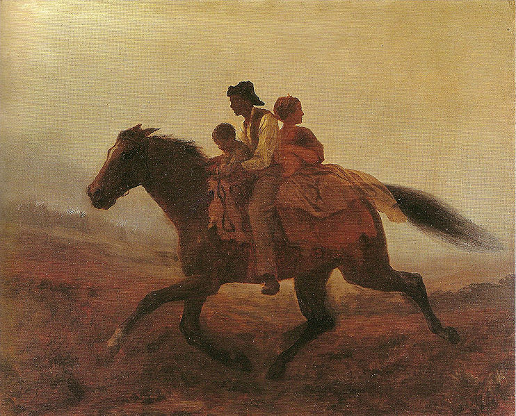 runaway slaves on a horse