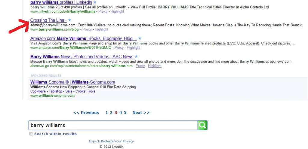 barry williams search results with proxy server november 2012