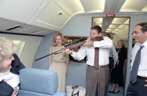 pres-ford-aiming-rifle-in-airforce-one